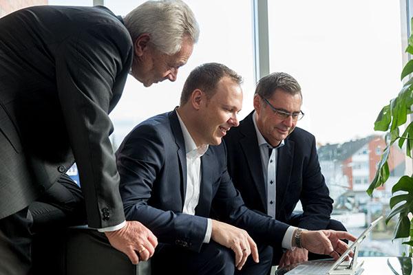Die drei Partner der Kanzlei – Josef Grolms, Norbert Jansen und Holger Grolms