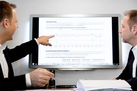 Jansen & Grolms Steuerberater – Zusammenarbeit – Auswertungen